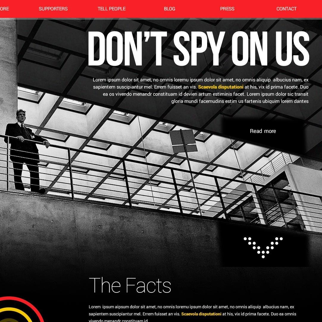 Don't Spy on Us